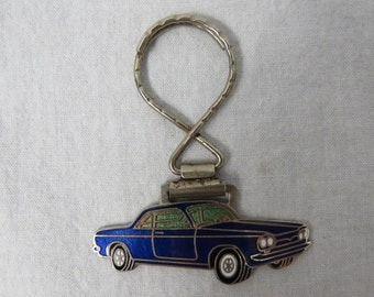 Vintage 70s Muscle Car Automobile Keychain - Key fob  - Gift for Dad
