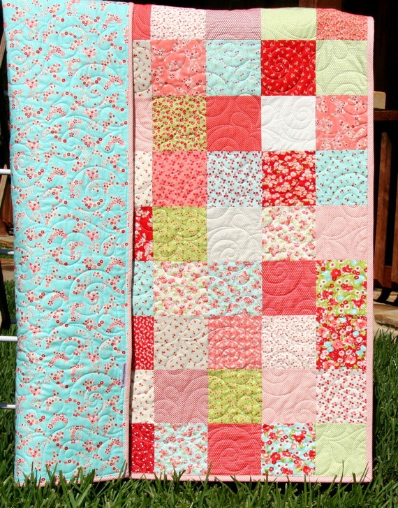 Baby Girl Quilt Kit Little Ruby Bonnie And Camille For