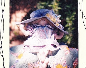 My Mama's Hat Peddlers Of Danville Stuffed Doll With Hat Decorated By You Christmas Gift Uncut S- 3