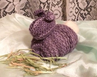Waldorf-Inspired Knitted Bunny