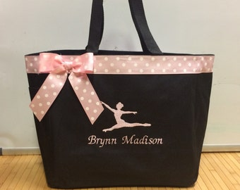 Personalized Girls Gymnastics Dancer Tote Bag Baby Diaper Bag