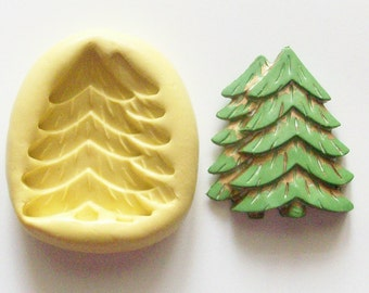 Pines Mold #447 - silicone mold, craft mold, porcelain mold, jewelry mold, baking mold, fondant mold, clays mold, flexible mold