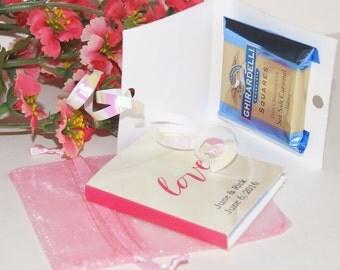 Wedding Favors, Ghirardelli books, Ghirardelli,wedding chocolate books, party favors, wedding favor books, unique favors.  Set of 25