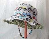 Toddler Boy Sun Hat, Reversible Bucket Hat, Child Sun Hat