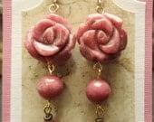 Special Order for Jovenn Hong - Rhodonite Rose Earrings