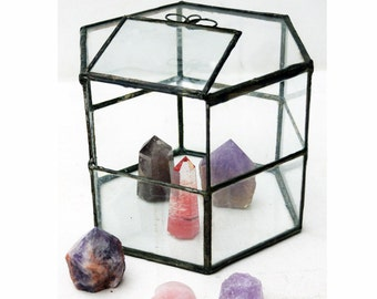 Vintage Terrarium Large Glass Box Succulent Geometric