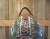 Tapestry Purse  Vintage Carpetbag  made in America by Richmark