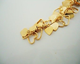 A-182. 50cm, Love Heart Charms Chain, Love Heart Charms Chain - choose your color