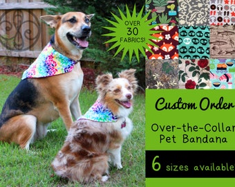 CUSTOM ORDER Reversible Pet Bandana