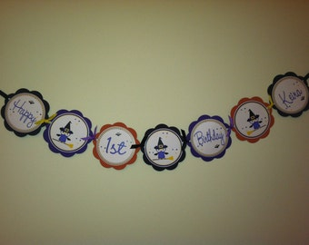 Witch Owl Custom Word Banner