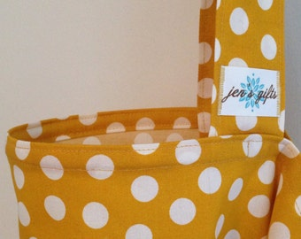 Nursing Cover Up in Mustard with White Polka Dots, Breastfeeding Cover in Yellow