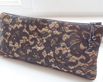 Black Lace Wedding Clutch Bag Gift for Mother of Bride Groom Special Event Evening Purse Goth Handbag