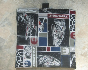 Star Wars Rebel Ships Reusable Sandwich Bag, Reusable Snack Bag, Washable Treat Bag with easy open tabs