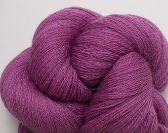 Blackberries and Cream Recycled Extra Fine Grade Lace Weight Merino Yarn, EFM00046