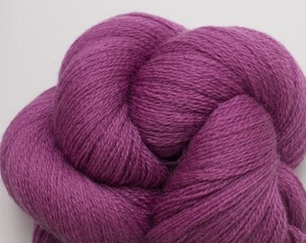 Blackberries and Cream Recycled Extra Fine Grade Lace Weight Merino Yarn, 1426 Yards Available