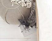 RESERVED Linen Pouf/Ottoman