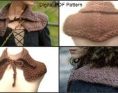 Outlander Inspired Claires Capelet Shoulder Warmer Knitting PDF Pattern Is not a finished product. It is a PDF Pattern