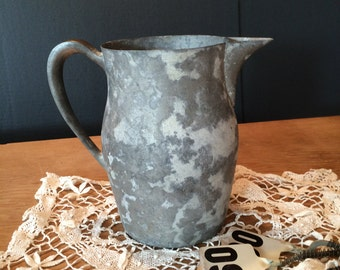 Vintage Pewter Pitcher by Poole #2228 Farmhouse Country Chic French Country Country Western