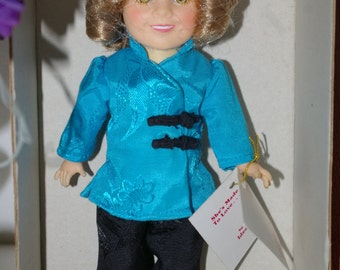 "Vintage SHIRLEY TEMPLE 8"" Doll Stowaway IDEAL 1982 New in Box ---Free shipping"
