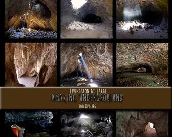 9 Amazing Underground Images INSTANT Digital Download Scrapbook Printable-JPG