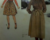"""1978 Back-Wrap Gathered Skirt Pattern Simplicity 8820 Girls' 7 Waist 23"""". 70's Cute BACK-WRAP SKIRT Pattern and More at WhiletheCatNaps"""