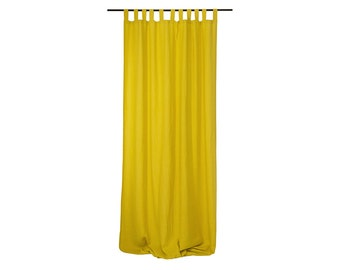 Custom linen drapes Tab top window curtains Unlined or blackout curtains Choose your color