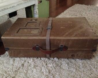 Antique Fiberco Laundipak Suitcase Mailing Case