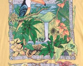 Vintage  The Living Forest Rainforest t shirt USA XL