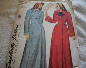 Vintage Woman's Coat Pattern