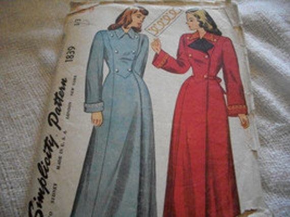 Vintage Woman's Coat Pattern