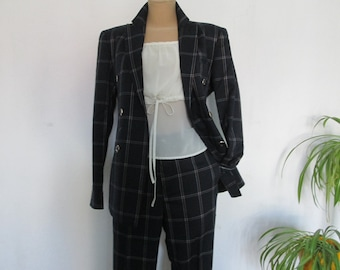 3 PC Womens Suit Vintage / Jacket / Vest / Pants / SizeEUR42 / UK14