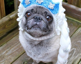 Elsa-Frozen /  Dog Hat / Made To Order