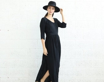 Valentines day SALE!Pleated maxi dress, Black