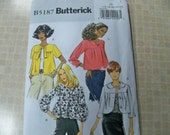 Size 16 to 24 Misses Jacket Sewing Pattern Supply Butterick 5187 Casual Wear Jacket - Easy Misses Jacket - Loose Fitting, Unlined FF
