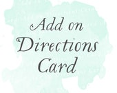 Directions Card (Set of 25) | Add-on matching design