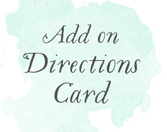 Directions Card (Set of 25)   Add-on matching design