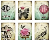 HALF PRICE Shabby Whimsy - Digital Collage Sheet