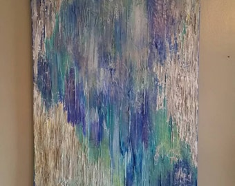 Abstract Acrylic Textured Colorful Painting