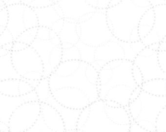 LAST PIECE Modern Background Paper XOXO Silver on White, Brigitte Heitland, Zen Chic, Moda Fabrics, 100% Cotton Fabric, 1584 11