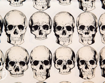 Rad Skull in Natural, Alexander Henry Nicole's Prints, 100% Cotton Fabric, 8220A