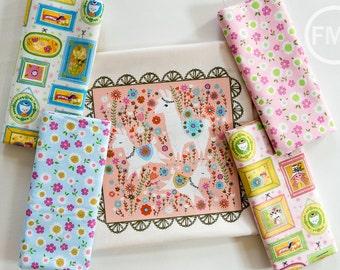 Whimsical Storybook Half Yard Bundle and Panel, Tara Lilly, Robert Kaufman Fabrics, 100% Cotton Fabric, AYT-156