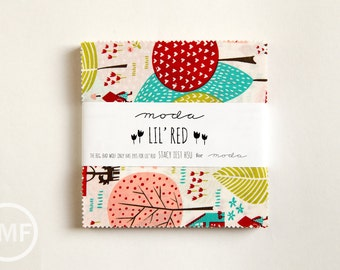Lil' Red Charm Pack, Stacy Iest Hsu, Moda Fabrics, Pre-Cut Fabric Squares, 20500PP