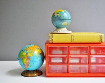 Vintage Plastic Desktop Storage with Drawers - Orange/Red