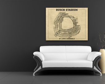 Print of vintage astrodome seating chart seating chart on busch stadium vintage baseball field print blueprint photo paper matte or canvas sports cardinals st malvernweather Choice Image