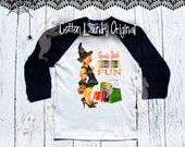 "Halloween ""Ghouls Just wanna have fun"" Childrens tshirt raglan; baseball; halloween; halloween tee shirt"