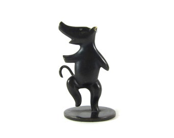 Vintage Hagenauer Original Austrian Signed Bronze Art Deco Stylized Dancing Pig Figure