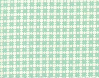 Bonnie & Camille HANDMADE Collection 'Aqua Star' Quilt  Fabric 55142 22  Moda Fabric, Sold by the Half Yard