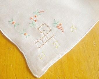 Handkerchief Hanky Hankie Vintage Hankys Hankies Antique Handkerchief Handkerchief Embroidered