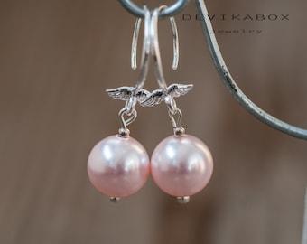 Pearl Bridal Earrings Swarovski Pearl Drop Earrings Wedding Bridal Jewelry Bridal Earrings Bridesmaid Earrings Pearl Jewelry Wedding Earring
