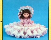 """20%OFF Td Creations OLIVE 11"""" Mini Bed Doll - Crochet Doll Dress Clothes Clothing Pattern"""